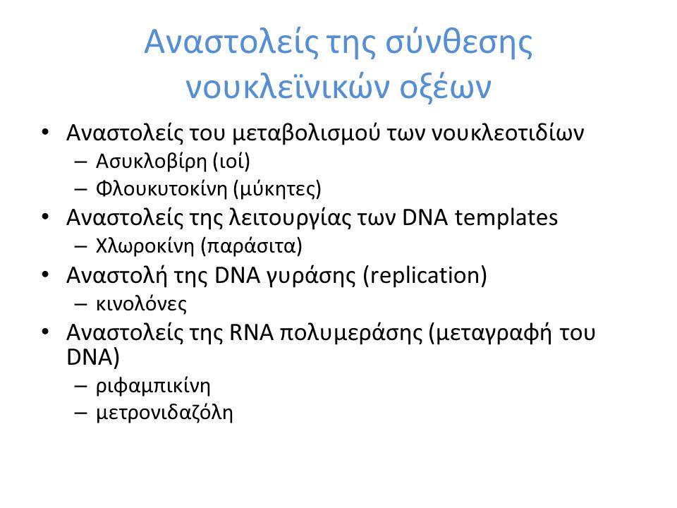 Αναστολείς της σύνθεσης νουκλεϊνικών οξέων