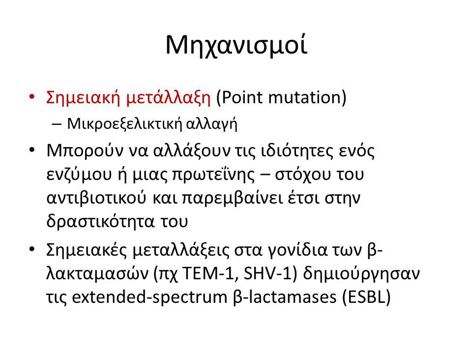 Μηχανισμοί Σημειακή μετάλλαξη (Point mutation)