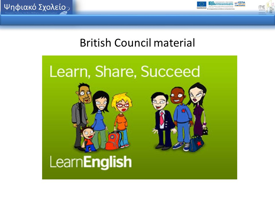 British Council material