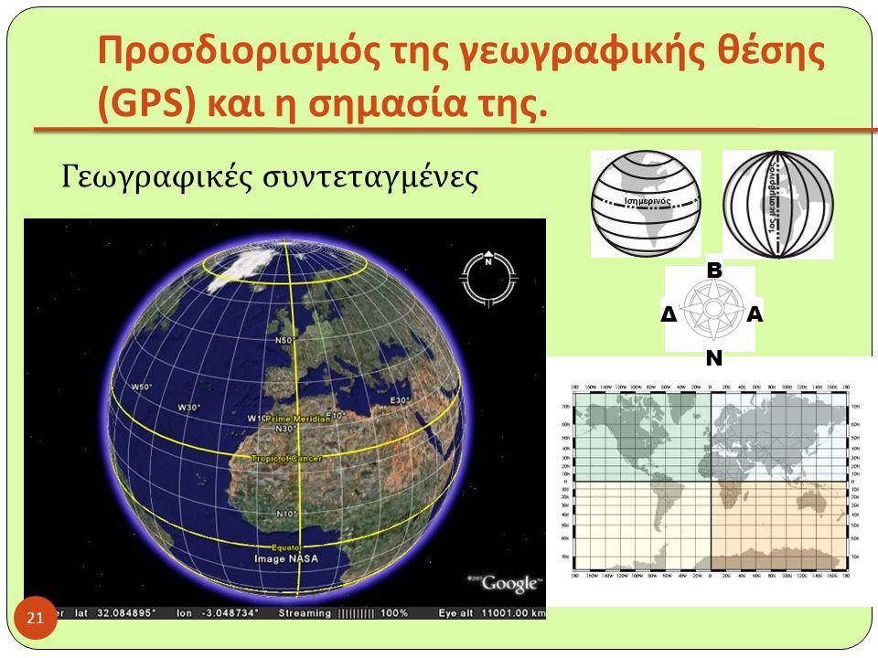 Προσδιορισμός της γεωγραφικής θέσης (GPS) και η σημασία της.