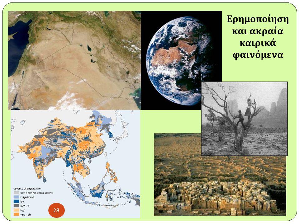 Ερημοποίηση και ακραία καιρικά φαινόμενα