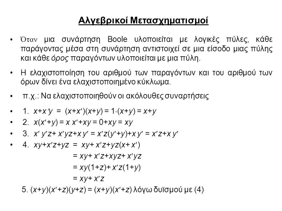 Αλγεβρικοί Μετασχηματισμοί