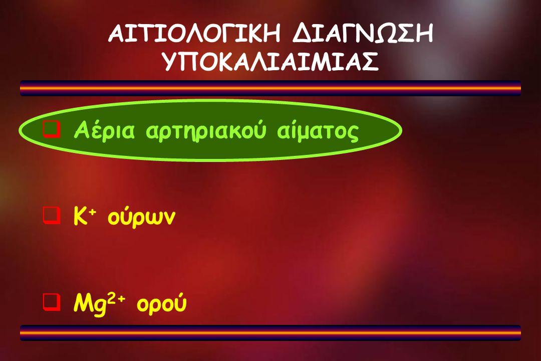 ΑΙΤΙΟΛΟΓΙΚΗ ΔΙΑΓΝΩΣΗ ΥΠΟΚΑΛΙΑΙΜΙΑΣ