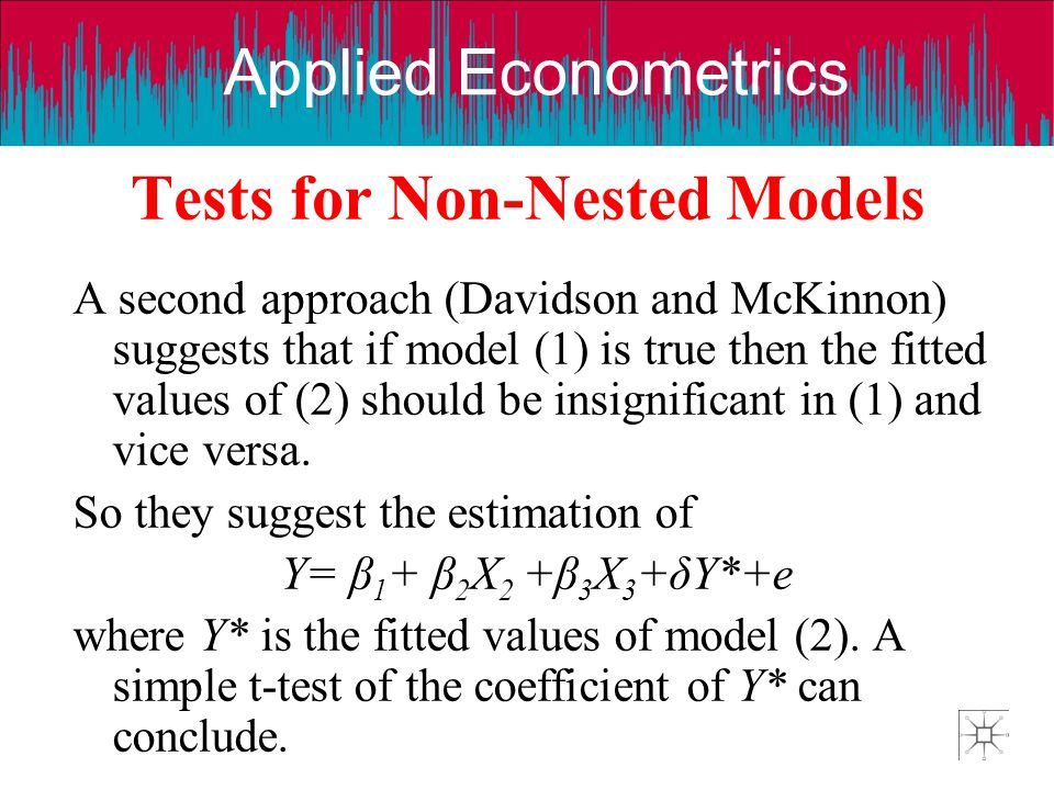 Tests for Non-Nested Models