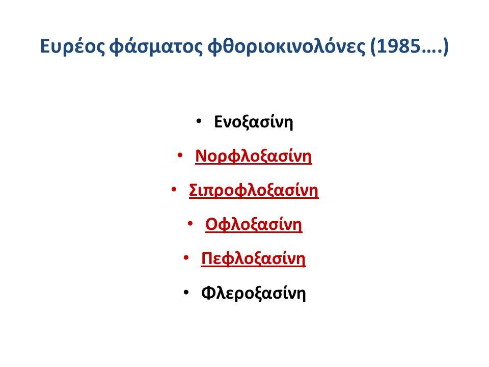Ευρέος φάσματος φθοριοκινολόνες (1985….)