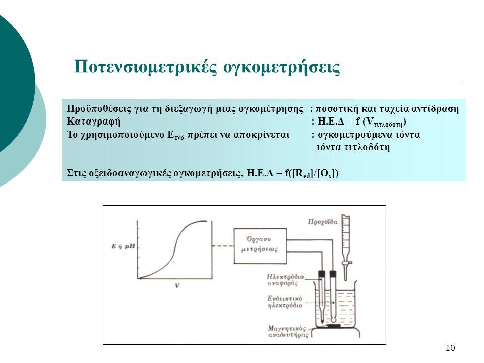 Ποτενσιομετρικές ογκομετρήσεις