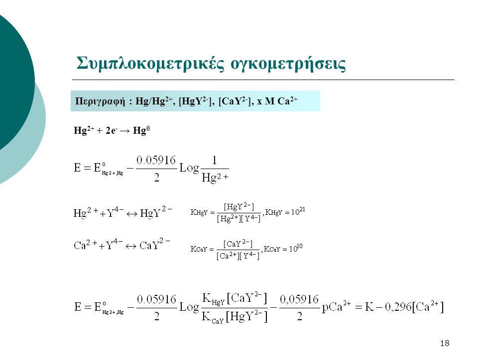 Συμπλοκομετρικές ογκομετρήσεις