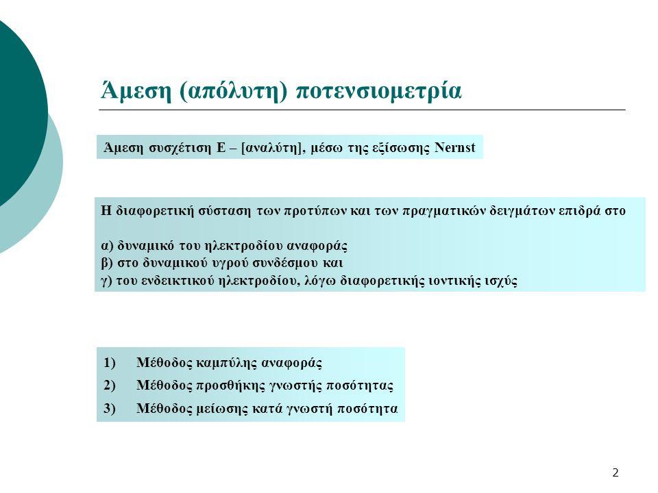 Άμεση (απόλυτη) ποτενσιομετρία