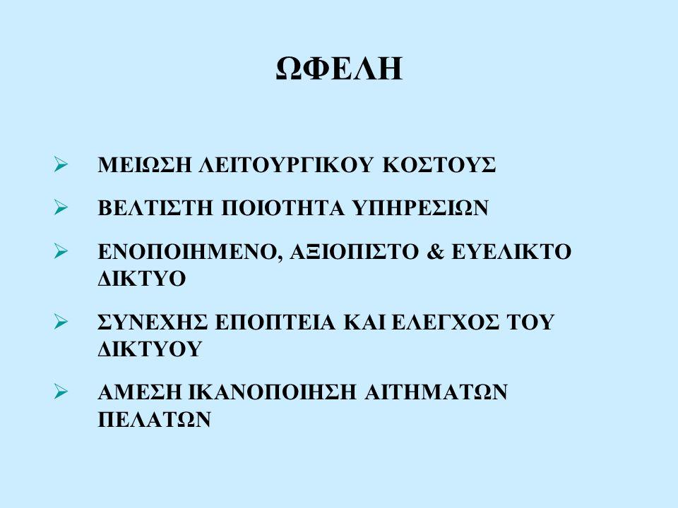 OTE A.E. ΕΘΝΙΚΟ ΣΥΣΤΗΜΑ ΔΙΑΧΕΙΡΙΣΗΣ ΔΙΚΤΥΟΥ