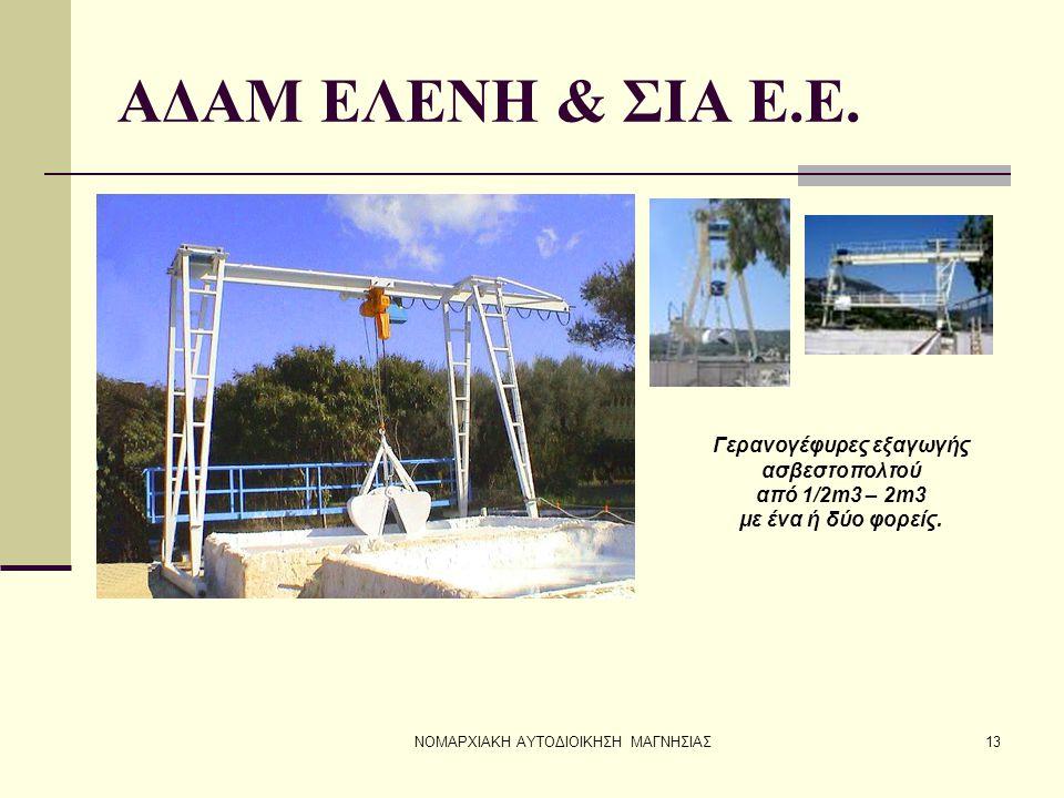Γερανογέφυρες εξαγωγής