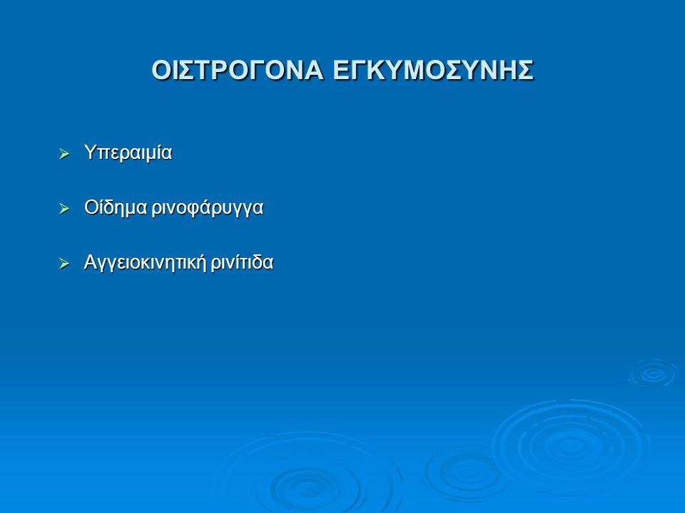 ΟΙΣΤΡΟΓΟΝΑ ΕΓΚΥΜΟΣΥΝΗΣ