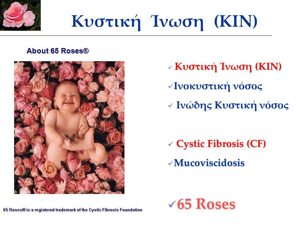 Κυστική Ίνωση (ΚΙΝ) 65 Roses Ινοκυστική νόσος Ινώδης Κυστική νόσος