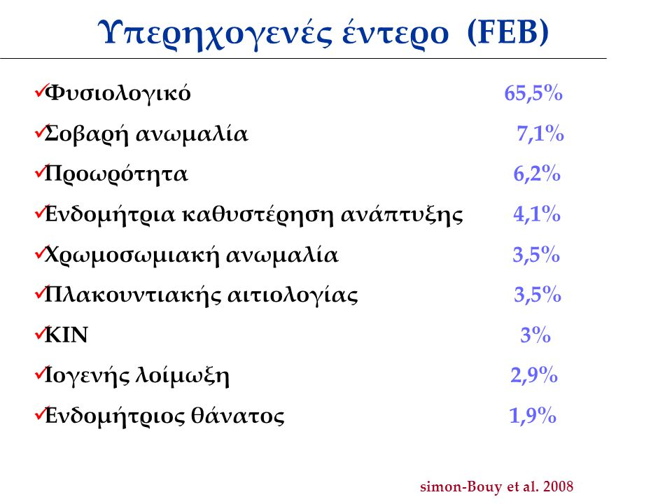 Υπερηχογενές έντερο (FEB)