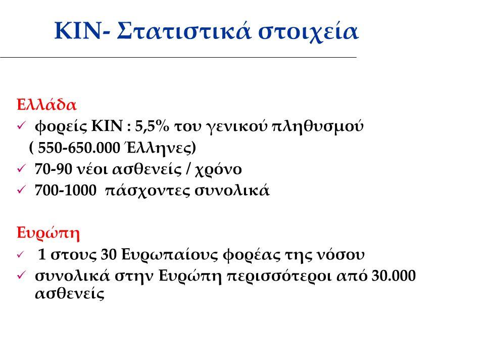 ΚΙΝ- Στατιστικά στοιχεία