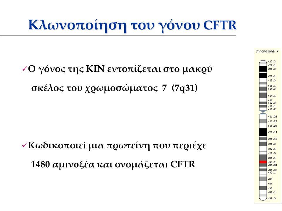 Κλωνοποίηση του γόνου CFTR