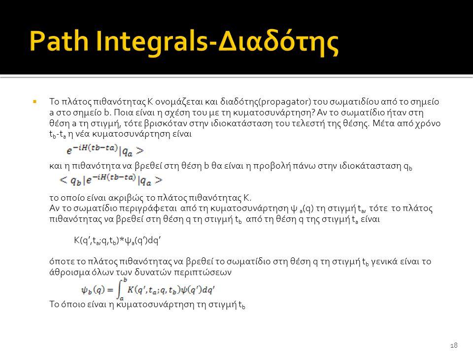 Path Integrals-Διαδότης