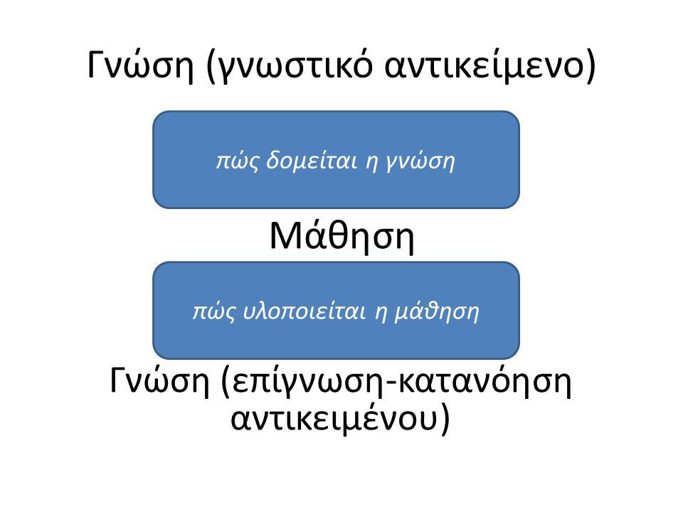 Γνώση (γνωστικό αντικείμενο)