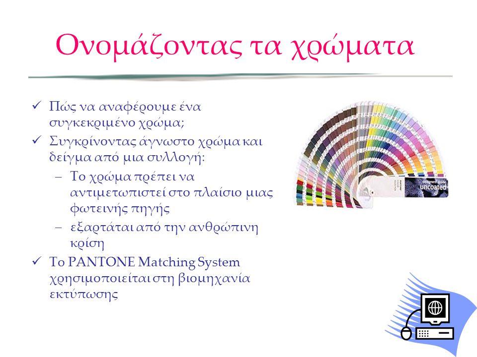 Ονομάζοντας τα χρώματα