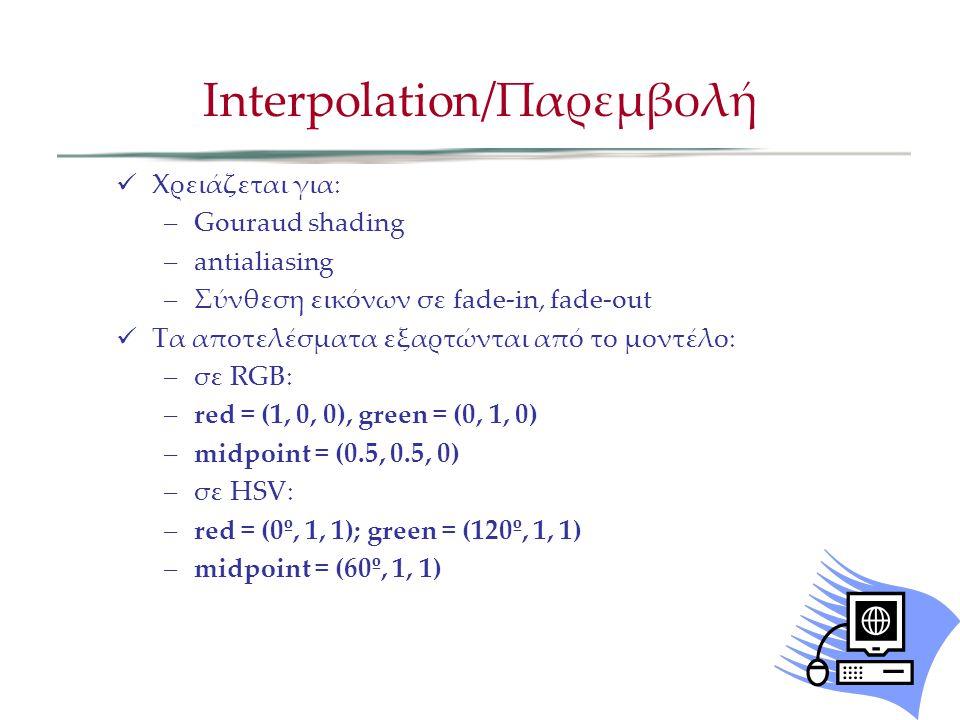 Interpolation/Παρεμβολή