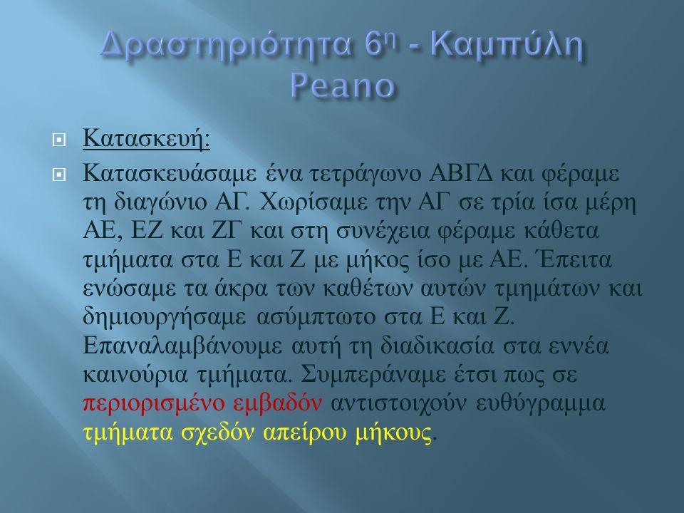 Δραστηριότητα 6η - Καμπύλη Peano