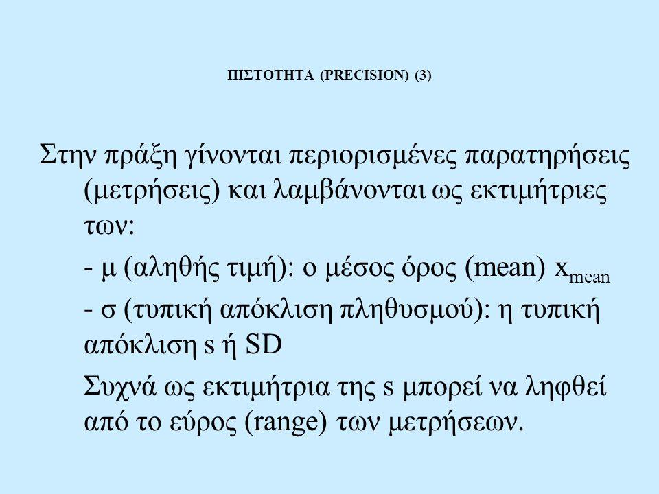 ΠΙΣΤΟΤΗΤΑ (PRECISION) (3)
