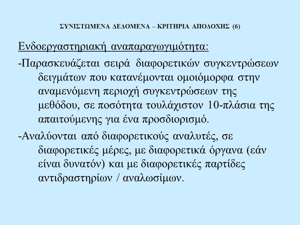 ΣΥΝΙΣΤΩΜΕΝΑ ΔΕΔΟΜΕΝΑ – ΚΡΙΤΗΡΙΑ ΑΠΟΔΟΧΗΣ (6)