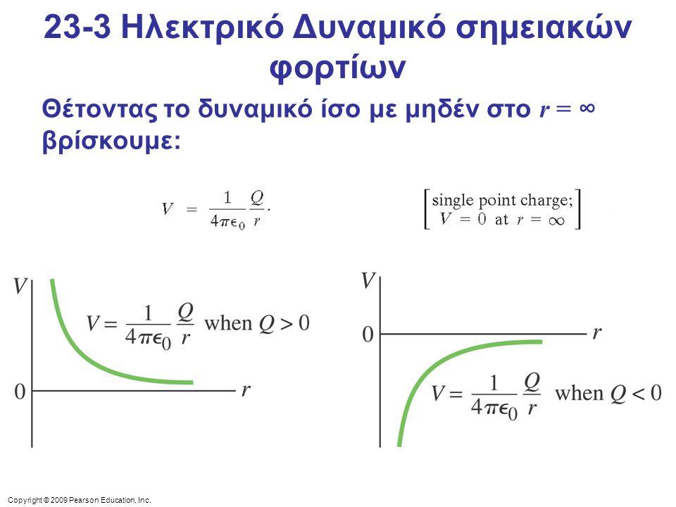 23-3 Ηλεκτρικό Δυναμικό σημειακών φορτίων