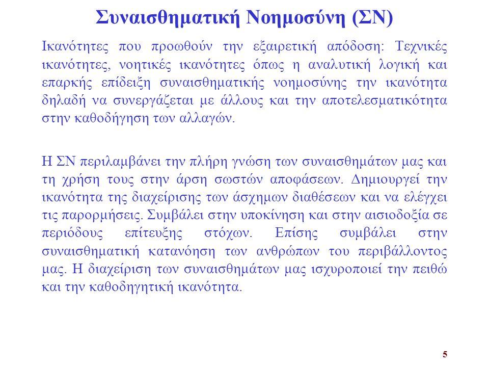 Συναισθηματική Νοημοσύνη (ΣΝ)