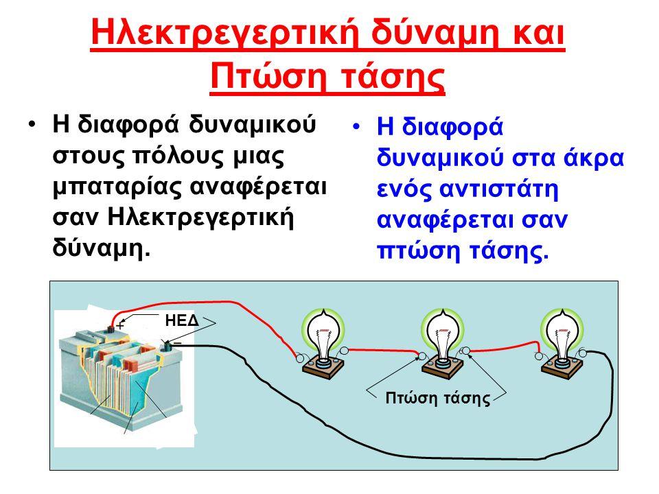 Ηλεκτρεγερτική δύναμη και Πτώση τάσης