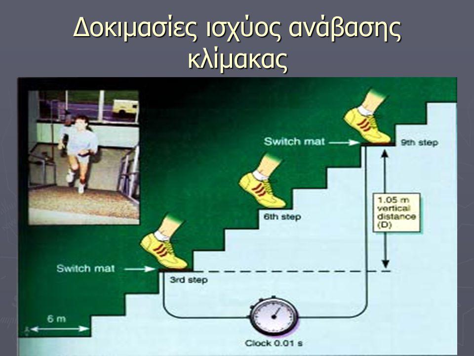 Δοκιμασίες ισχύος ανάβασης κλίμακας