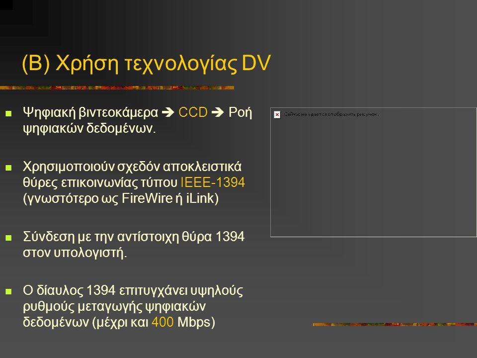 (Β) Χρήση τεχνολογίας DV