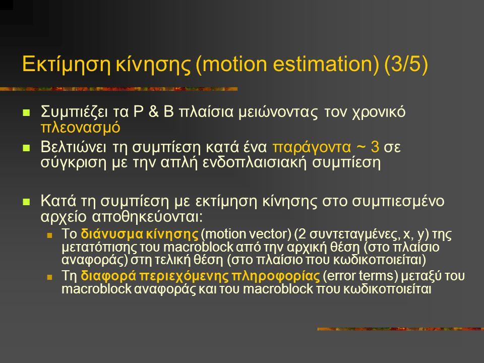 Εκτίμηση κίνησης (motion estimation) (3/5)