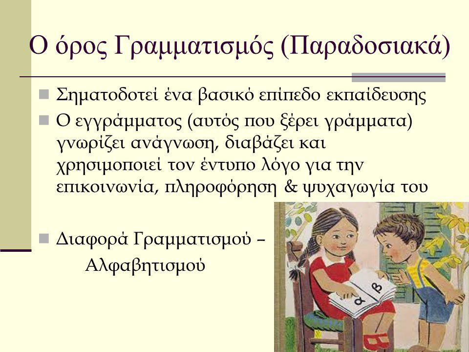 Ο όρος Γραμματισμός (Παραδοσιακά)