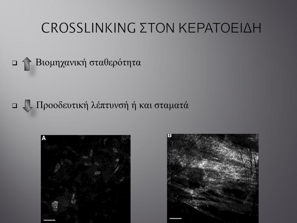 CROSSLINKING ΣΤΟΝ ΚΕΡΑΤΟΕΙΔΗ