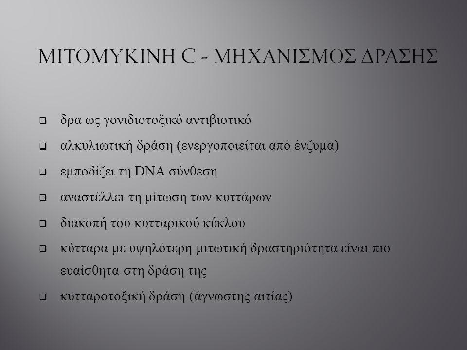 ΜΙΤΟΜΥΚΙΝΗ C - ΜΗΧΑΝΙΣΜΟΣ ΔΡΑΣΗΣ
