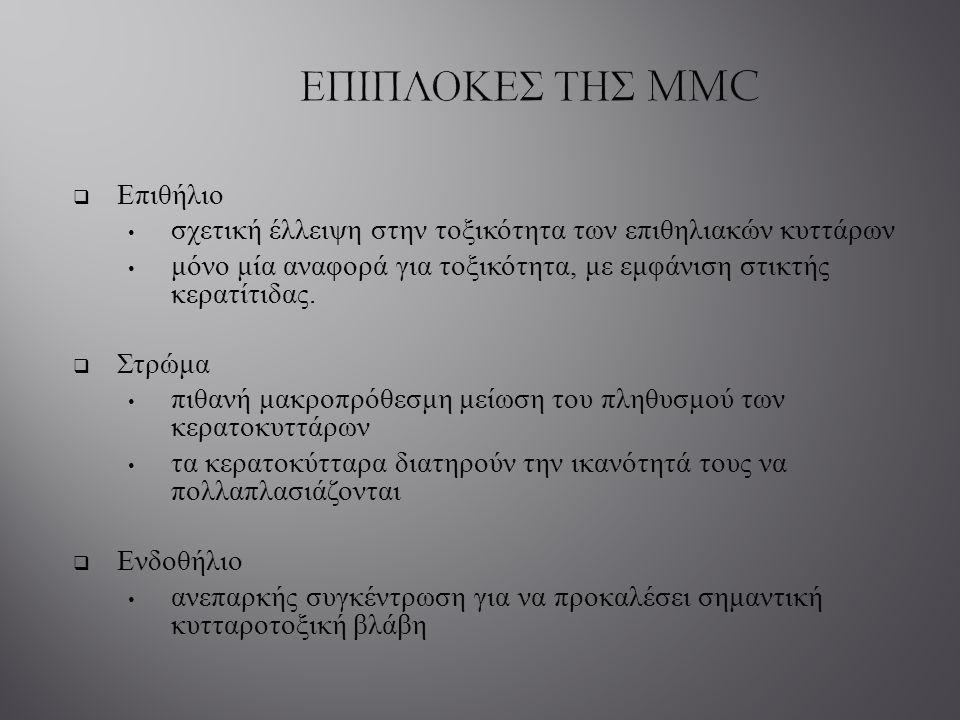ΕΠΙΠΛΟΚΕΣ ΤΗΣ MMC Επιθήλιο