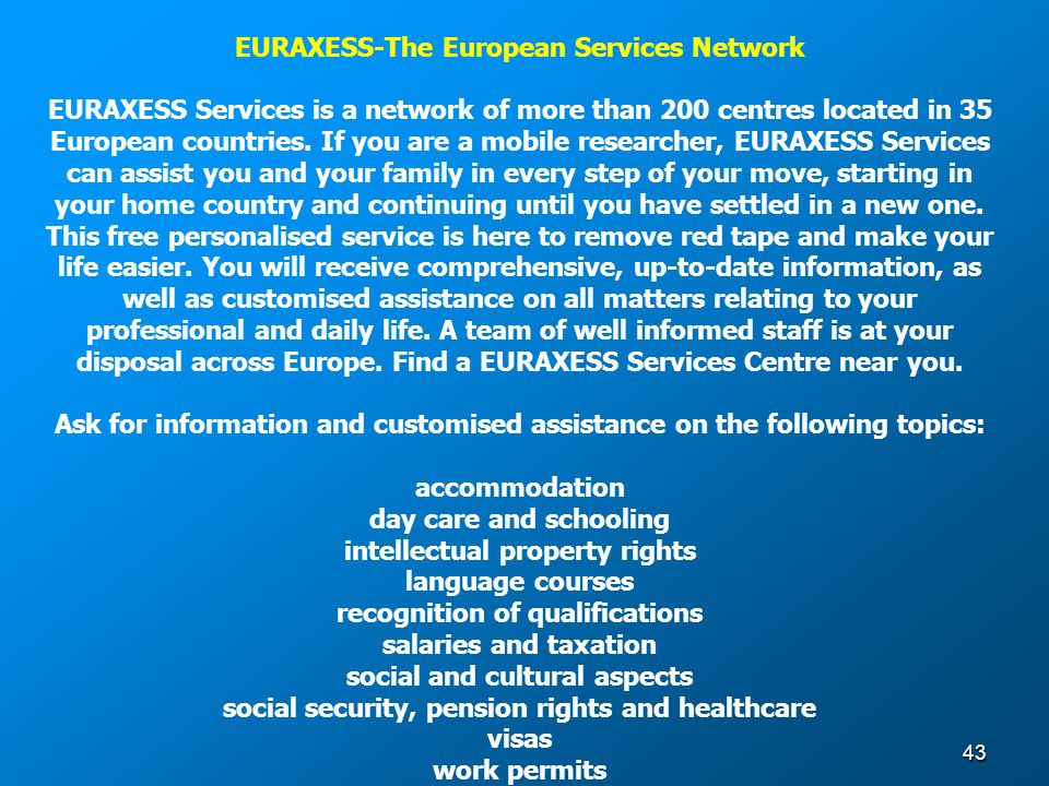 EURAXESS-The European Services Network