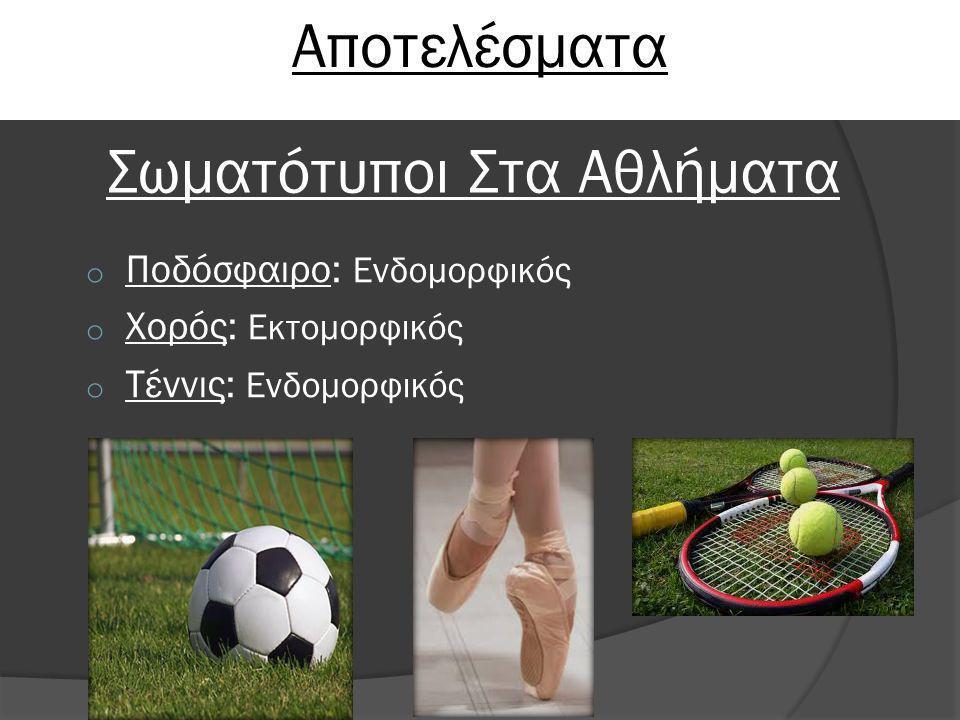 Σωματότυποι Στα Αθλήματα