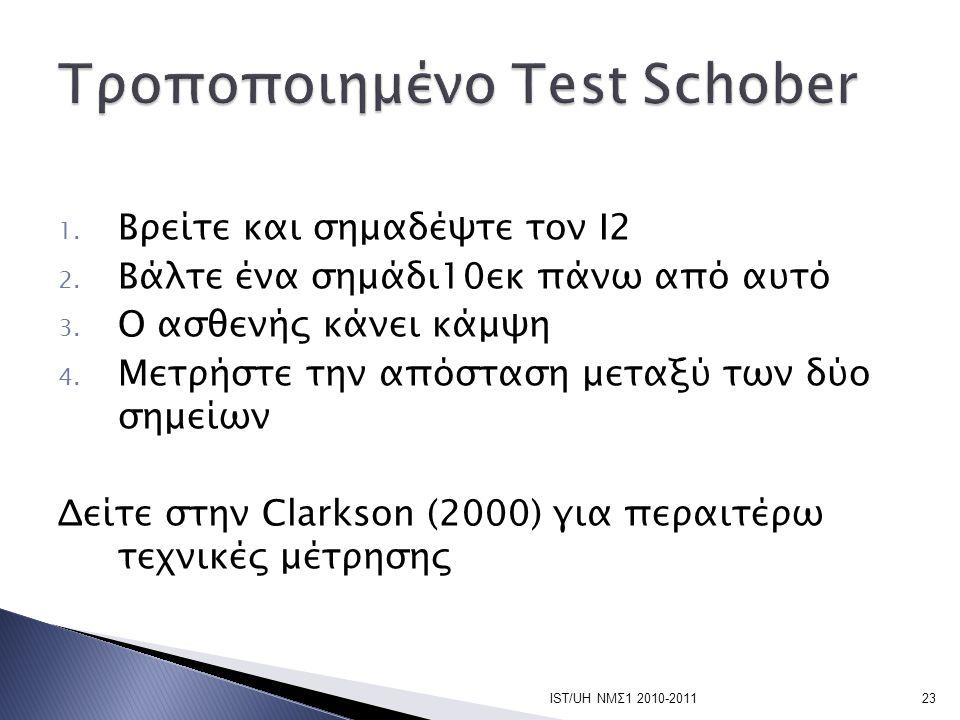 Τροποποιημένο Test Schober