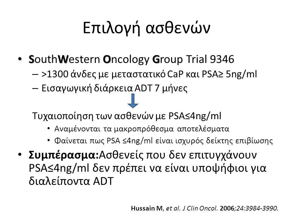 Επιλογή ασθενών SouthWestern Oncology Group Trial 9346