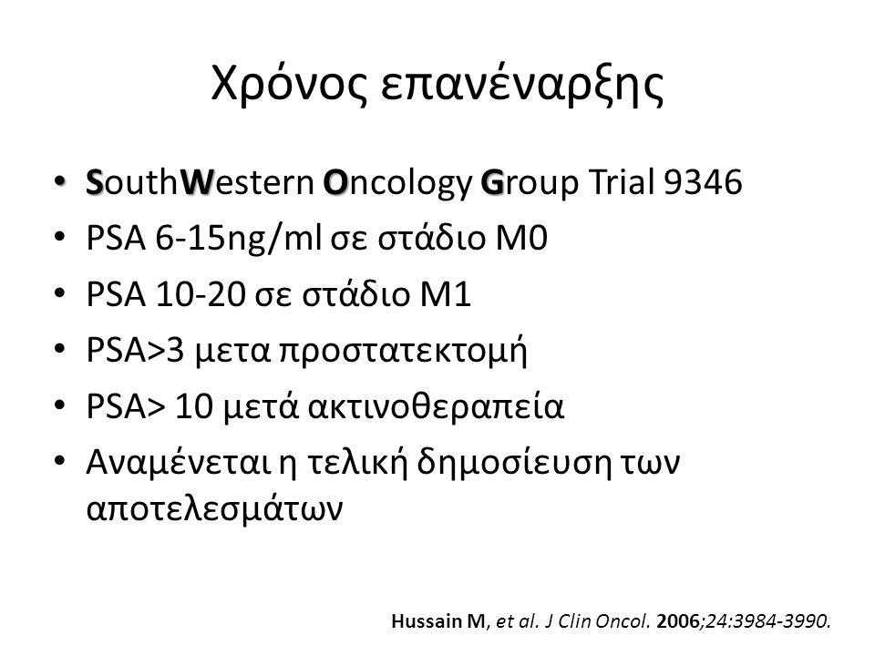 Χρόνος επανέναρξης SouthWestern Oncology Group Trial 9346