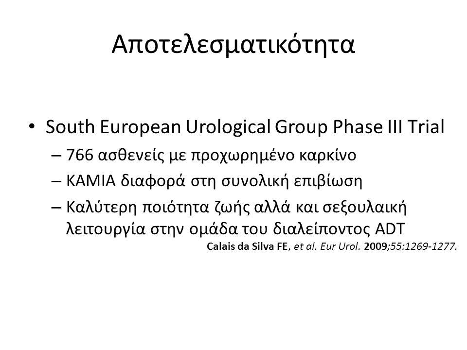 Αποτελεσματικότητα South European Urological Group Phase III Τrial