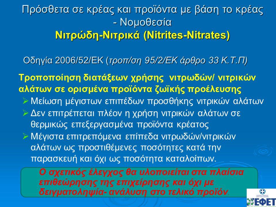 Οδηγία 2006/52/ΕΚ (τροπ/ση 95/2/ΕΚ άρθρο 33 Κ.Τ.Π)