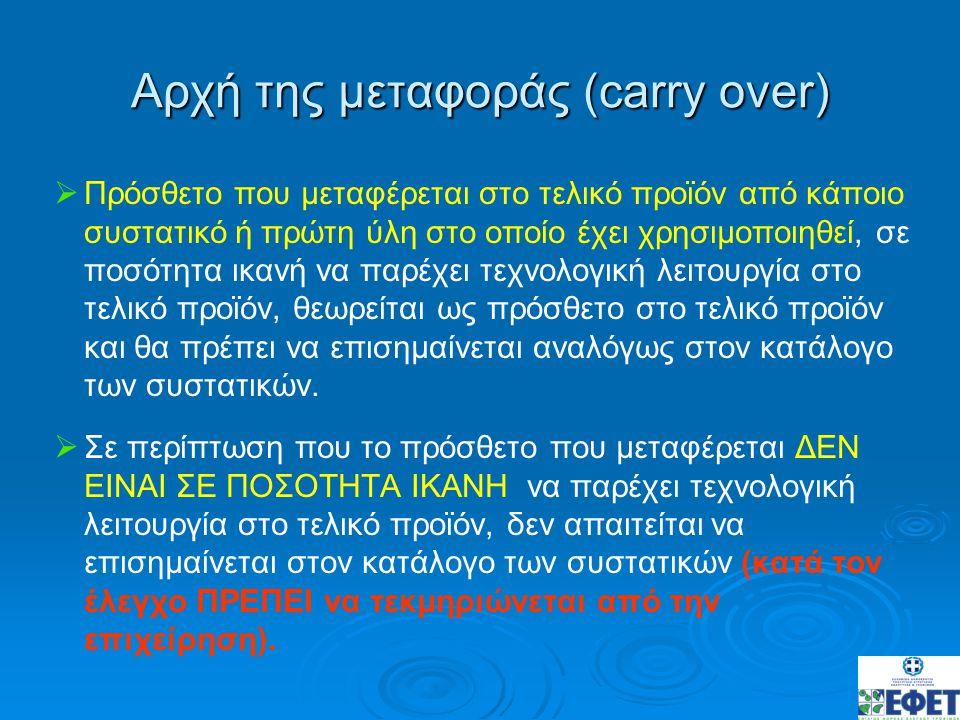 Αρχή της μεταφοράς (carry over)