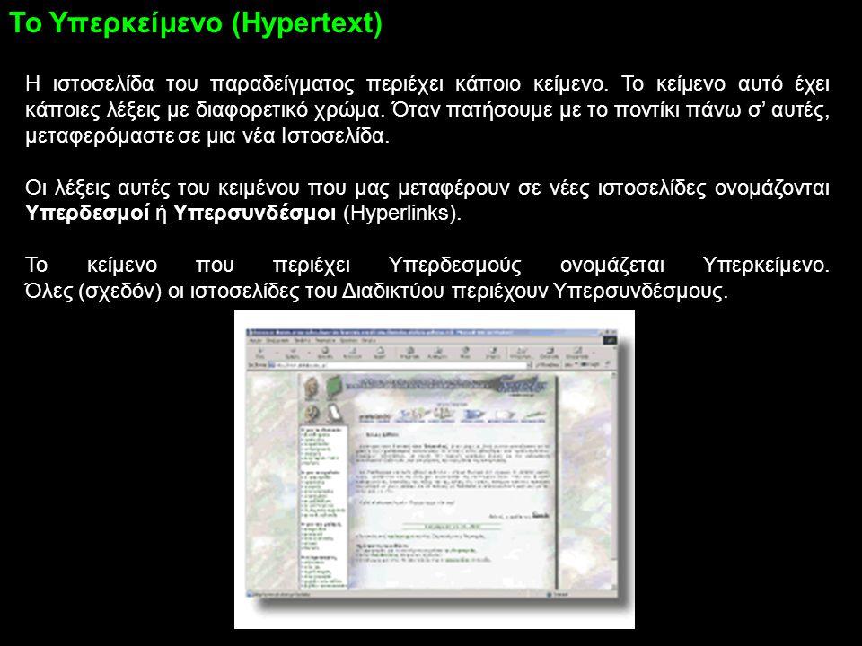 Το Υπερκείμενο (Hypertext)