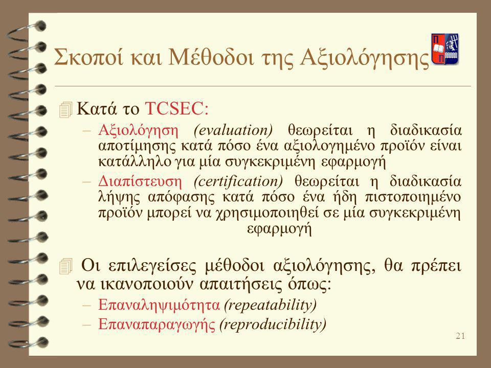 Σκοποί και Μέθοδοι της Αξιολόγησης