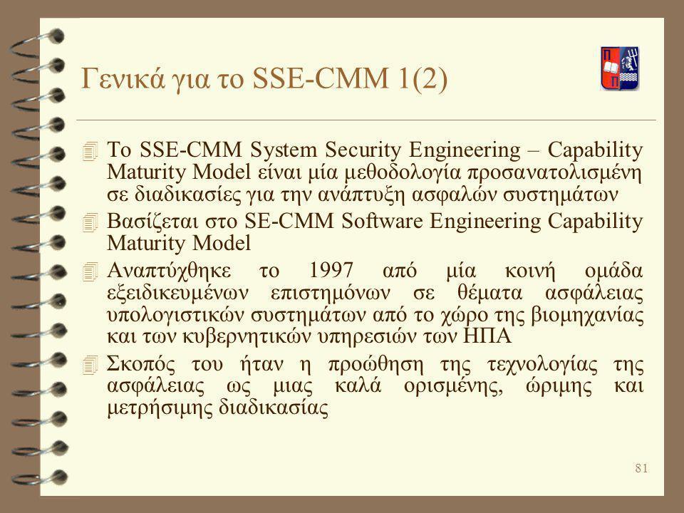 Γενικά για το SSE-CMM 1(2)