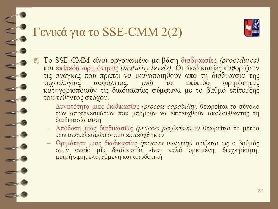 Γενικά για το SSE-CMM 2(2)