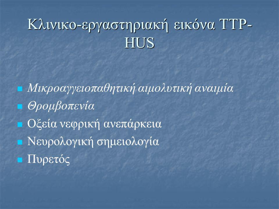 Κλινικο-εργαστηριακή εικόνα ΤΤΡ-HUS