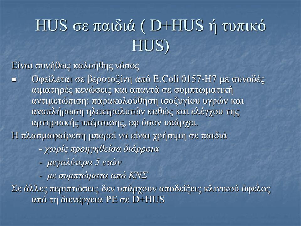HUS σε παιδιά ( D+HUS ή τυπικό HUS)